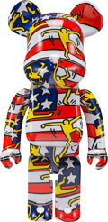 Collectible, BE@RBRICK X Keith Haring Estate. Keith Haring #7 1000%, 2020. Painted cast resin. 28 x 14 x 9 inches (71.1 x 35.6 x 22.9...