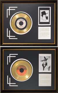 """Trini Lopez Personally Owned In-House Gold Sales Awards for """"Lemon Tree"""" and """"La Bamba"""" (Reprise)..."""