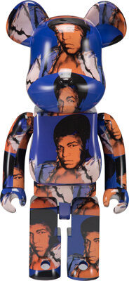 BE@RBRICK X The Andy Warhol Foundation for the Visual Arts Muhammad Ali 1000%, 2020 Painted cast res