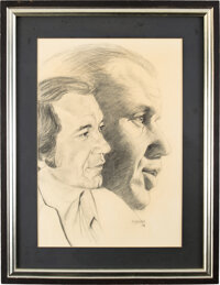 Trini Lopez/Frank Sinatra Personally Owned Limited Original Pencil Drawing