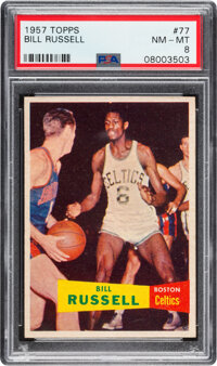 1957 Topps Bill Russell Rookie #77 PSA NM-MT 8