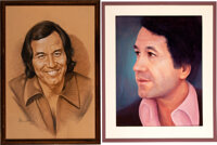 Trini Lopez Personally Owned Portrait Paintings (2).... (Total: 2 Items)