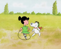 Peanuts You're in Love, Charlie Brown Violet and Snoopy Production Cel (Bill Melendez, 1967)