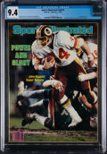 Football Collectibles:Publications, 1983 John Riggins Sports Illustrated - CGC 9.4 Pop 1 With None Higher....
