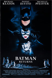 """Batman Returns (Warner Bros., 1992). Rolled, Overall: Very Fine-. One Sheets (2) (26.75"""" X 39.75"""" & 27&quo..."""