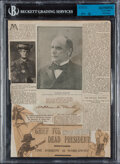 Autographs:Others, President William McKinley Signed Cut Display. ...