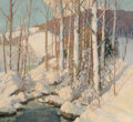 Paintings, Frederick J. Mulhaupt (American, 1871-1938). Winter Calm. Oil on canvas. 40 x 44 inches (101.6 x 111.8 cm). Signed lower...