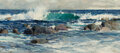 Paintings, Richard Alan Schmid (American, 1934-2021). Crashing Waves. Oil on canvas. 16 x 36 inches (40.6 x 91.4 cm). Signed lower ...