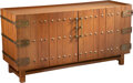 Furniture, Edmond J. Spence (Canadian/American, 1911-1986). Cabinet, circa 1955. Mahogany and brass. 24-1/2 x 60 x 19 inches (62.2 ...