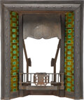 Decorative Accessories, English Arts and Crafts Metal and Tile Fireplace, late 19th century. 38 x 29-3/4 x 11 inches (96.5 x 75.6 x 27.9 cm). ...