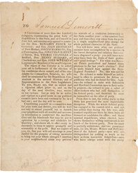 [Andrew Jackson]: 1829 New Hampshire Political Circular