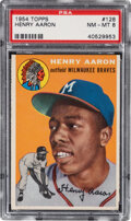 Baseball Cards:Singles (1950-1959), 1954 Topps Henry Aaron Rookie #128 PSA NM-MT 8....