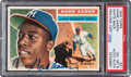 Autographs:Sports Cards, Signed 1956 Topps Hank Aaron #31 (White Back) PSA EX-MT 6, PSA/DNA Certified....