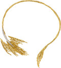Estate Jewelry:Necklaces, Diamond, Gold Convertible Brooch-Necklace, Andrew Grima & Sterlé. ...