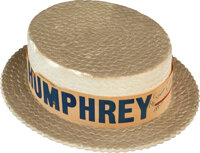 Trini Lopez Owned Hubert Humphrey Hat Signed by Frank Sinatra with Humphrey Signed Letter