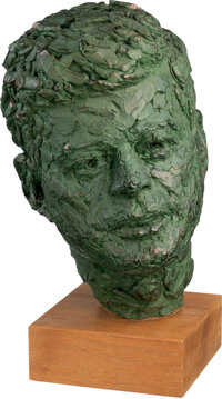 Trini Lopez Owned Bust of JFK Gifted by LBJ With Signed Photo