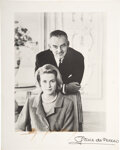 Movie/TV Memorabilia:Autographs and Signed Items, Trini Lopez Owned Grace Kelly/Rainier III Signed Photo. ...