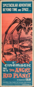 """Movie Posters:Science Fiction, The Angry Red Planet (American International, 1960). Folded, Fine+. Insert (14"""" X 36""""). Science Fiction.. ..."""