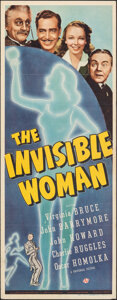 "Movie Posters:Horror, The Invisible Woman (Universal, 1940). Folded, Very Fine-. Insert (14"" X 36""). Horror.. ..."