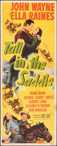"Movie Posters:Western, Tall in the Saddle (RKO, 1944). Folded, Fine+. Insert (14"" X 36""). Western.. ..."