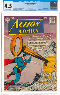 Action Comics #241 (DC, 1958) CGC VG+ 4.5 Slightly brittle pages