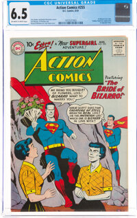 Action Comics #255 (DC, 1959) CGC FN+ 6.5 Off-white to white pages