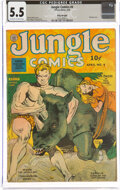 Golden Age (1938-1955):Adventure, Jungle Comics #4 Billy Wright Pedigree (Fiction House, 1940) CGC FN- 5.5 Off-white to white pages....