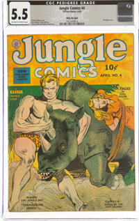 Jungle Comics #4 Billy Wright Pedigree (Fiction House, 1940) CGC FN- 5.5 Off-white to white pages