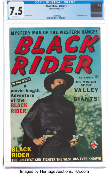 Black Rider 8 (#1) (Atlas, 1950) CGC VF- 7.5 Off-white pages....