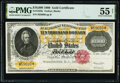 Large Size:Gold Certificates, Fr. 1225h $10,000 1900 Gold Certificate PMG About Uncirculated 55 Net.. ...