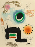 Prints & Multiples, Joan Miró (1893-1983). La Ralentie, 1969. Etching and aquatint with carborundum printed in colors on Arches paper. 29 x ...