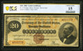 Large Size:Gold Certificates, Fr. 1176 $20 1882 Gold Certificate PCGS Banknote Choice Fine 15 Details.. ...