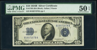 Fr. 1703 $10 1934B Silver Certificate. PMG About Uncirculated 50 EPQ