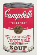 Prints & Multiples, Andy Warhol (1928-1987). Old Fashioned Vegetable, from Campbell's Soup II, 1969. Screenprint in colors on paper. 35 ...