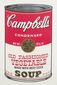 Andy Warhol (1928-1987) Old Fashioned Vegetable, from Campbell's Soup II, 1969 Screenprin