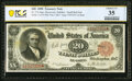 Large Size:Treasury Notes, Fr. 374 $20 1890 Treasury Note PCGS Banknote Choice VF 35 Details. . ...