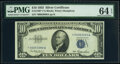Small Size:Silver Certificates, Fr. 1706* $10 1953 Silver Certificate Star. PMG Choice Uncirculated 64 EPQ.. ...