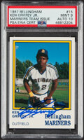 Autographs:Sports Cards, Signed 1987 Bellingham Mariners Ken Griffey Jr. #15 PSA Mint 9 PSA/DNA Auto 10....