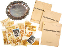"""Trini Lopez """"Egghead on Hill 656""""/The Reluctant Heroes Scripts (3) With Photos (22) and Tray"""