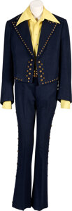 Music Memorabilia:Costumes, Trini Lopez Owned and Stage Worn Wool/Brass Studded Costume With Shirt.... (Total: 2 Items)