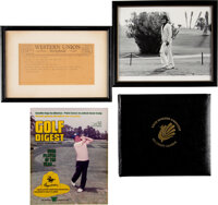 Trini Lopez Golf-Related Items (4)