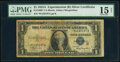 Small Size:Silver Certificates, Fr. 1609* $1 1935A R Silver Certificate Star. PMG Choice Fine 15 Net.. ...