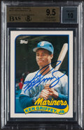 Autographs:Sports Cards, Signed 1989 Topps Traded Ken Griffey Jr. #41T BGS Gem Mint 9.5 Auto 10....