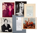 Movie/TV Memorabilia:Autographs and Signed Items, Trini Lopez Owned Signed Items From Tom Hanks, Gene Autry, Andy Williams, and Milton Berle. ...