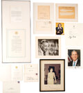 Movie/TV Memorabilia:Autographs and Signed Items, Trini Lopez Owned Walter Cronkite Signed Photo With Presidential Correspondence....