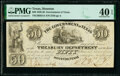 Obsoletes By State:Texas, Houston, TX- Government of Texas $50 Jan. 28, 1839 Cr. H21A Medlar 68 PMG Extremely Fine 40 EPQ, CC.. ...