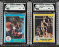 """Basketball Cards:Singles (1980-Now), 1986 Star Company """"Best of The Old/New"""" Complete Sets (2) - GAI MINT 9...."""
