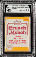 Basketball Cards:Unopened Packs/Display Boxes, 1985 Star Basketball Crunch & Munch Sealed Bag - GAI GEM MINT 9.5!...