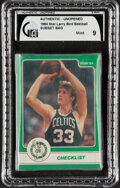 Basketball Cards:Singles (1980-Now), 1984 Star Co. Larry Bird Subset - GAI Mint 9 - In Original Bag. ...