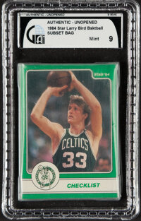 1984 Star Co. Larry Bird Subset - GAI Mint 9 - In Original Bag